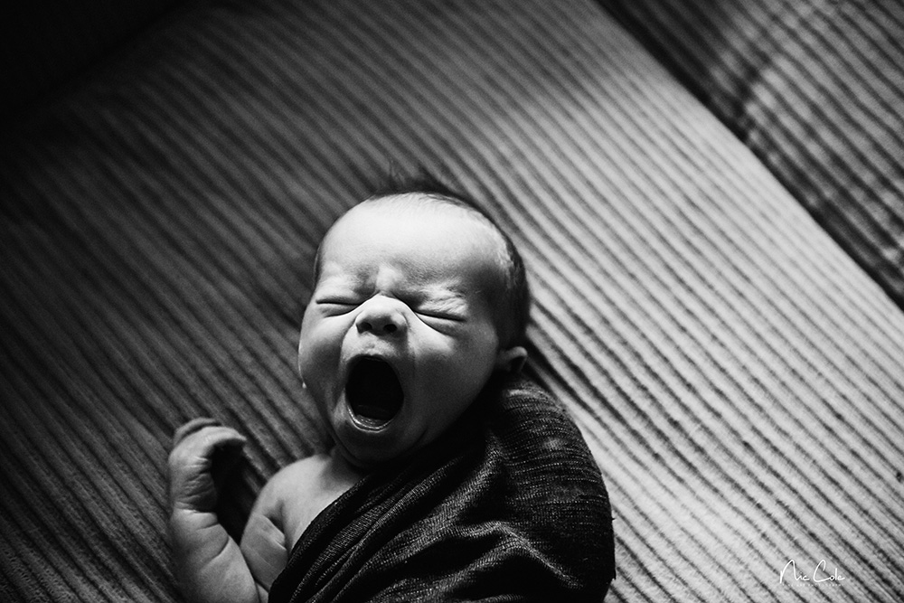 Maternity Photography yawning baby