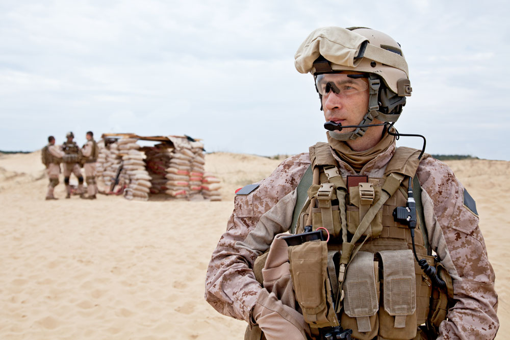 Marine At Outpost - 3M Dual Ended Combat Arms Earplug Lawsuit
