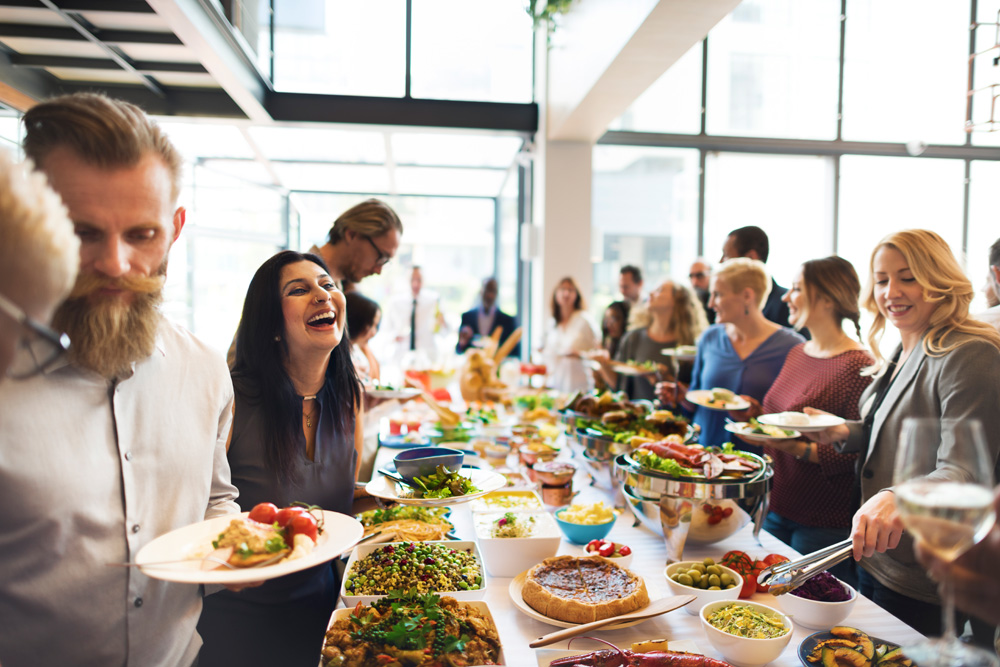 People At A Catered Event - Hiring A Good Catering Company