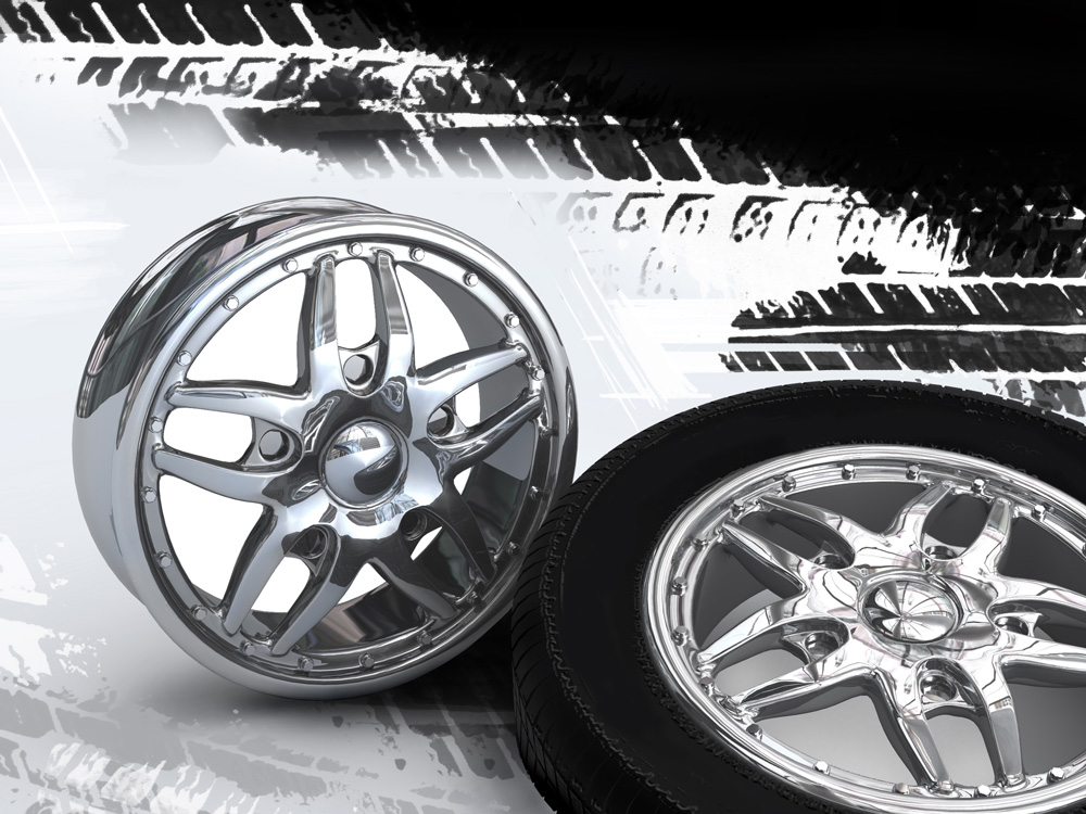 polished chrome wheels