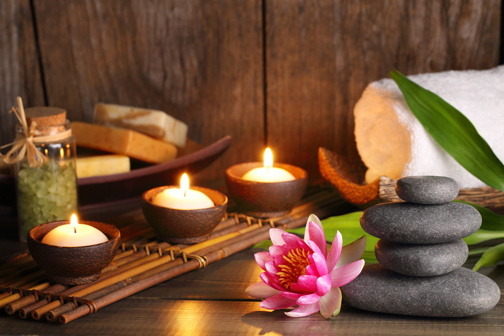 Spa scene with candles - Idaho Falls TMJ