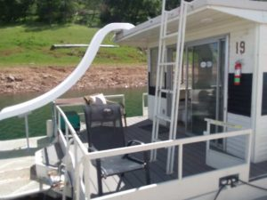 End of Houseboat with slide