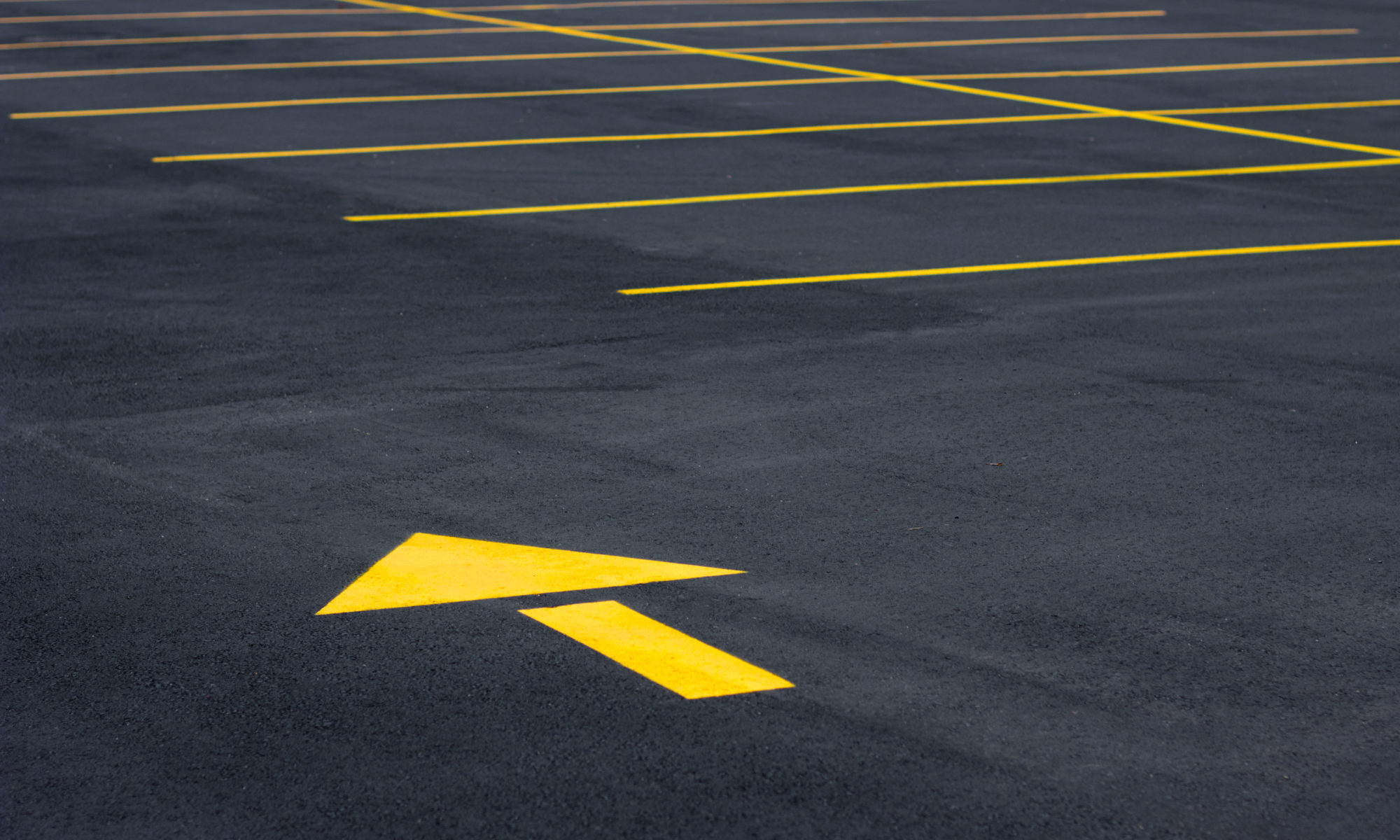 Parking Lot Stencil Arrow